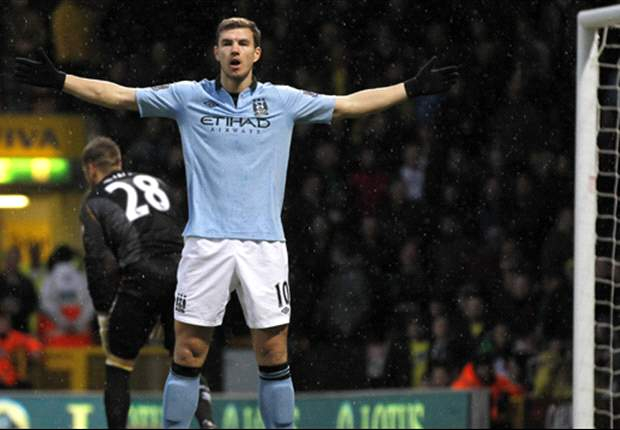 Dzeko was surprised to start ahead of Tevez against Norwich