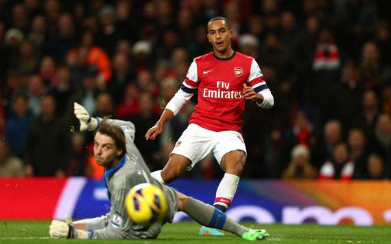 EPL, Arsenal v Newcastle United, Theo Walcott, Tim Krul