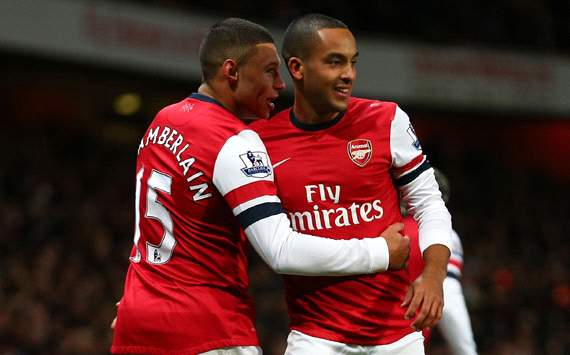 EPL, Arsenal v Newcastle United, Alex Oxlade-Chamberlain, Theo Walcott