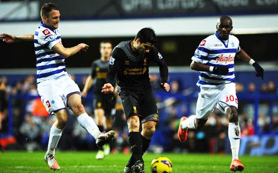 EPL:  Luis Suarez, QPR v Liverpool