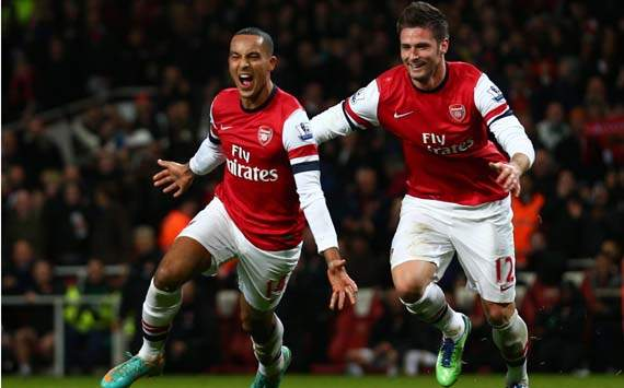 Giroud &amp; Podolski a source of hope in Arsenal's collapsing season
