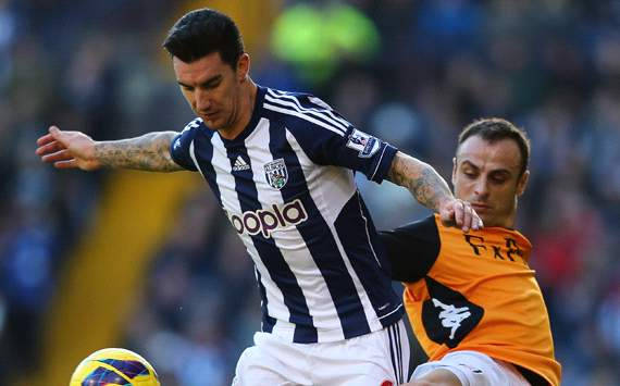 EPL: Liam Ridgewell - Dimitar Berbatov, West Bromwich Albion v Fulham 