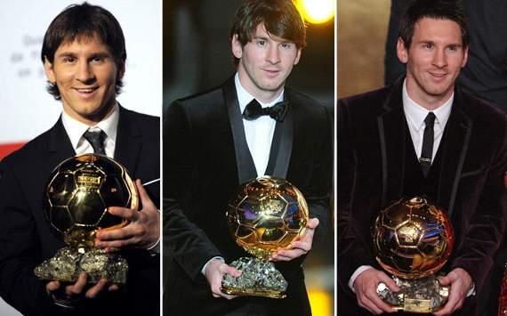 Messi - Balon de Oro 2009-2010-2011