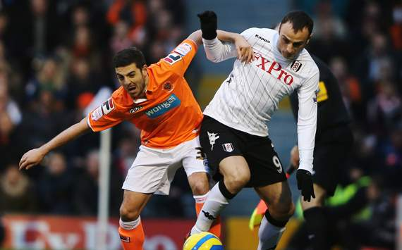 FA Cup - Fulham v Blackpool, Dimitar Berbatov and Robert Harris
