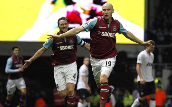 FA Cup - West Ham United and Manchester United, James Collins and Kevin Nolan 