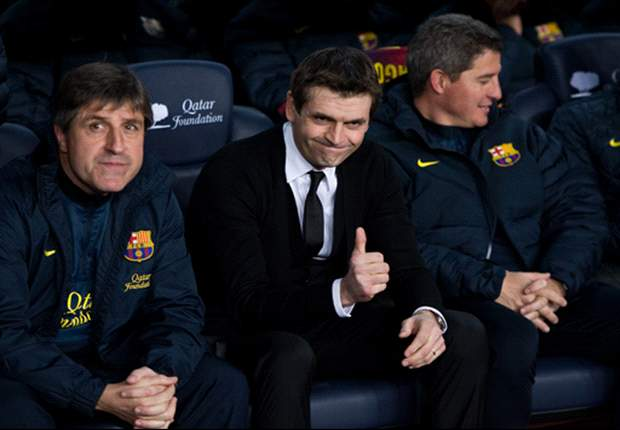 Roura: Vilanova will not be on Barcelona bench for Cordoba