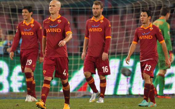 Roma dejection vs Napoli