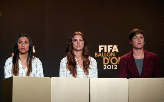 Wambach named 2012 Fifa Women's World Player of the Year