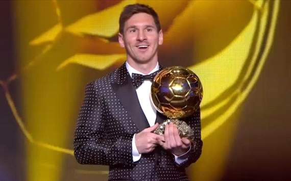 Lionel Messi wins 2012 Fifa Ballon d'Or