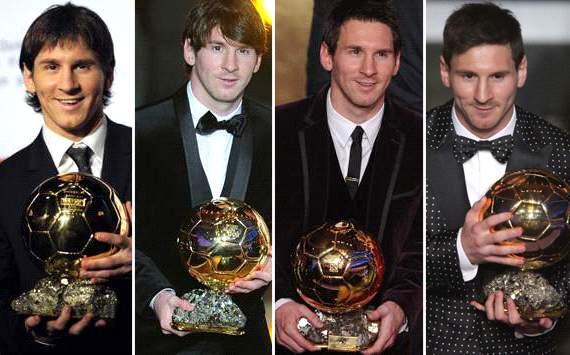 Lionel Messi - Balón de Oro 2009, 2010, 2011 y 2012