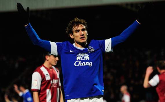 FA Cup - Cheltenham Town v Everton, Nikica Jelavic