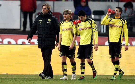 Klopp, Schmelzer und Sahin - Dortmund