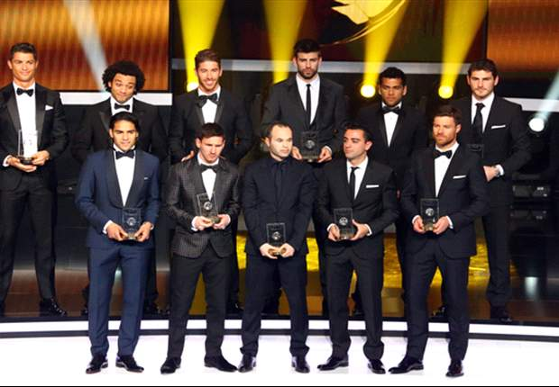 La Liga dominates as Messi &amp; Ronaldo make 2012 FIFPro World XI