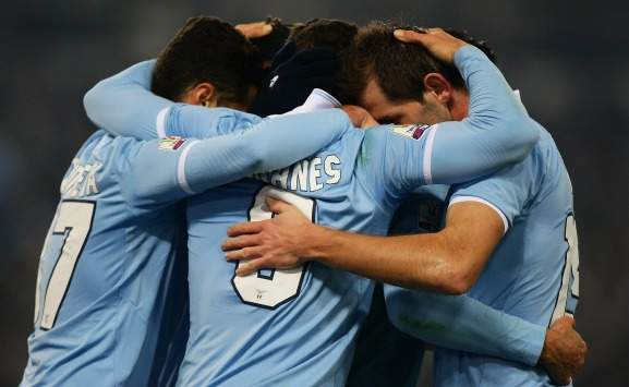 Lazio celebrating (Coppa Italia, Getty Images)