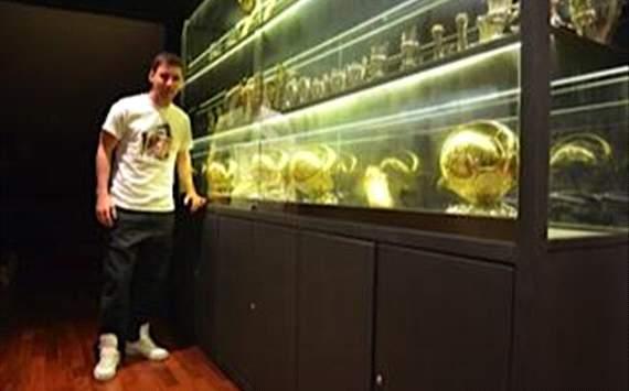 Messi y sus trofeos