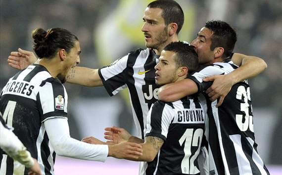Caceres, Bonucci, Giovinco, Isla - Juventus-Milan - Italy Cup