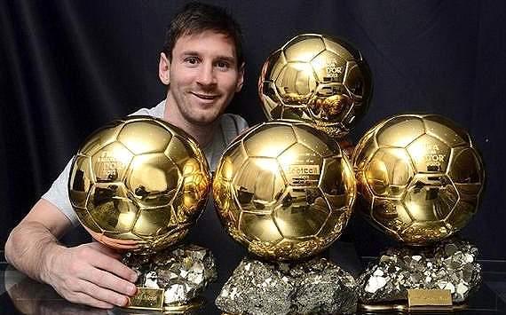 Lionel Messi y los 4 balones de oro
