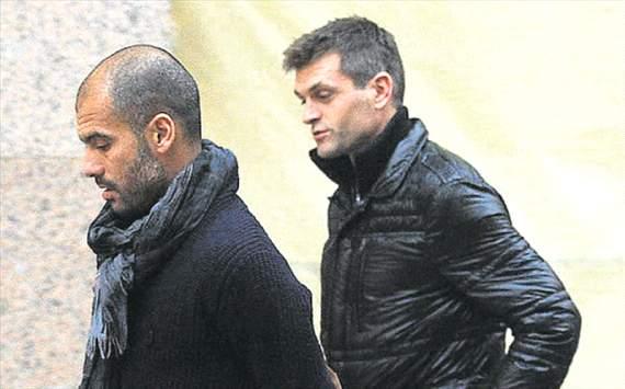 Tito vilanova and Pep Guardiola in New York streets