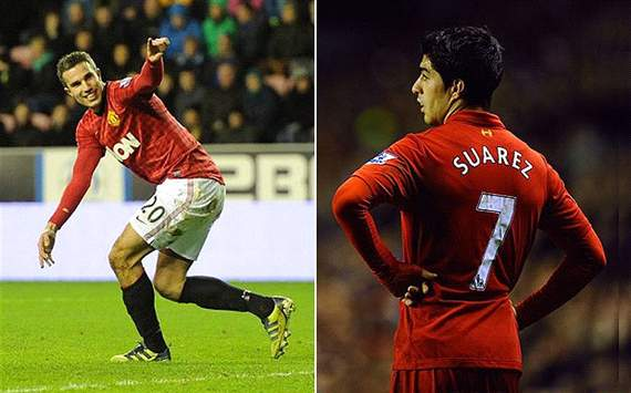 Robin van Persie and Luis Suarez, wondrous wingers turned winging wonders