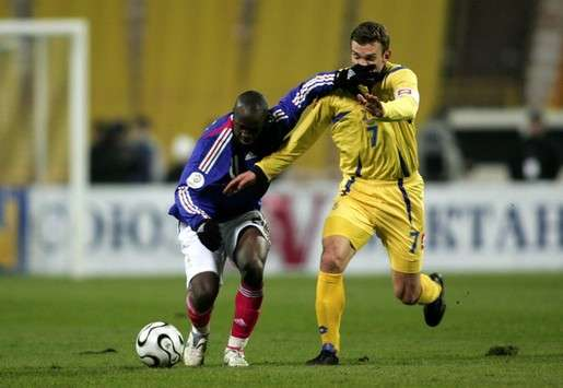 Lassana Diarra (France) vs Andriy Shevchenko (Ukraine)