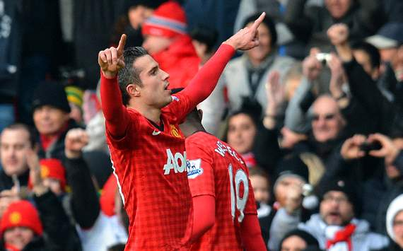 EPL: Robin van Persie , Manchester United v Liverpool