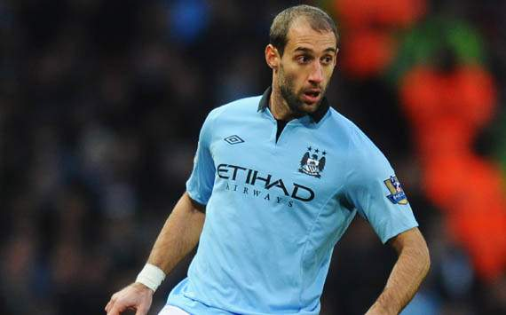 Zabaleta unconcerned by Manchester United's seven-point lead in title race