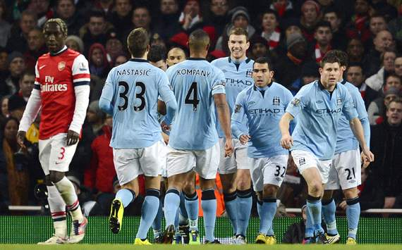 EPL: Edin Dzeko, Arsenal vs Manchester City