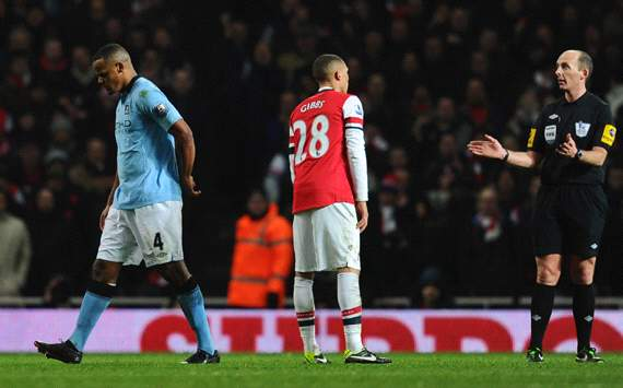 Manchester City will appeal Kompany red card, says Mancini