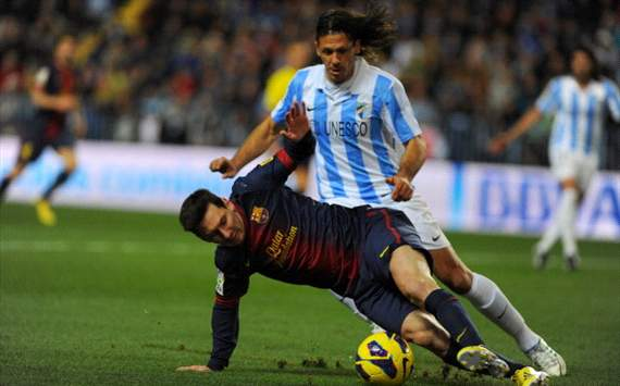 Lionel Messi, Martin Demichelis - Mlaga v FC Barcelona