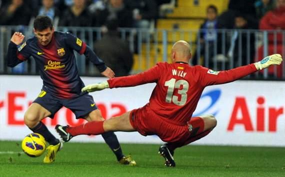 مالاگا 1 – بارسلونا 3: فاصله؛ 18 امتیاز!