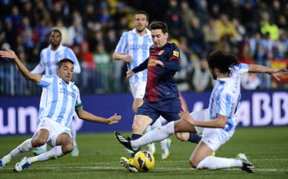 TEAM NEWS: Lionel Messi leads Barcelona in attack as they travel to Malaga in the Copa del Rey