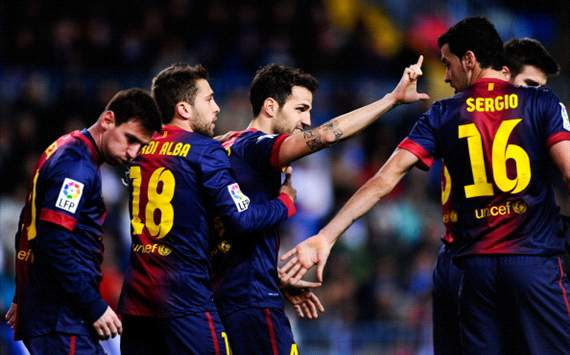 FC Barcelona celebrates