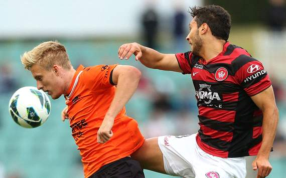 Ben Halloran - Brisbane Roar - Adam D'Apuzzo - Western Sydney Wanderers