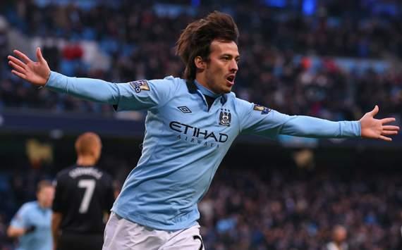 EPL - Manchester City vs Fulham, David Silva