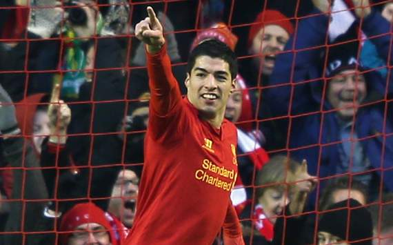 EPL - Liverpool vs Norwich City, Luis Suarez