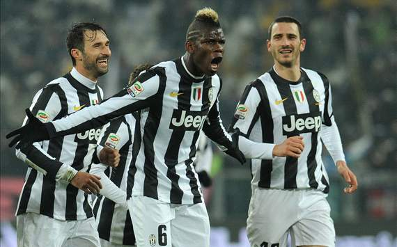 Paul Pogba, Leonardo Bonucci, Mirko Vucinic, Juventus, Serie A
