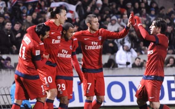 Lavezzi, Ibrahimovic, Menez, Maxwell, PSG 2012-13