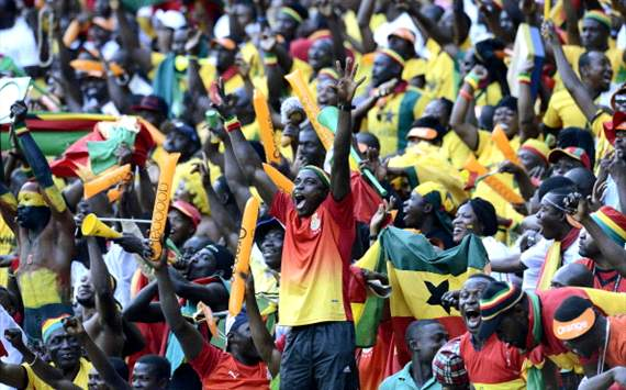 Ghana fans (DR Congo vs Ghana) Afcon 2013