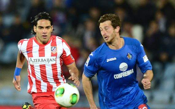 David Abraham, Getafe und Falcao, Atletico Madrid