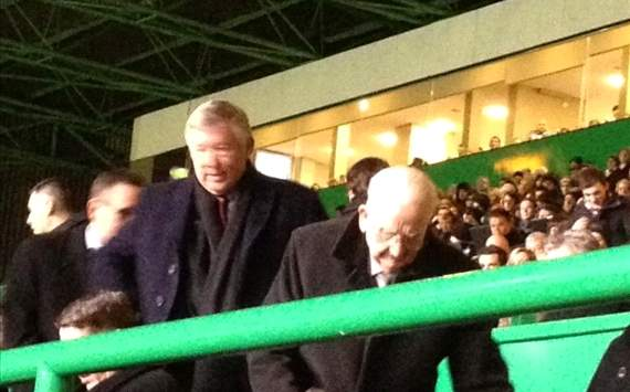 Sir Alex Ferguson watches Man Utd target Wanyama score for Celtic in huge win