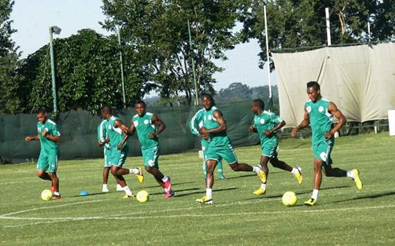 [PHOTOS] Nigeria preparing hard for Zambia game