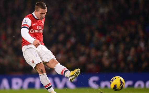 EPL - Arsenal vs West Ham,  Lukas Podolski