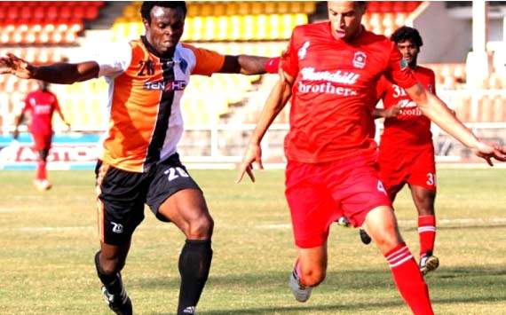 ND Opara, Bilal Najjarine, Mumbai FC vs Churchill Brothers, I-League