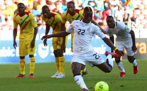 Mubarak Wakaso moves to the summit of the goal king chart at the 2013 Afcon