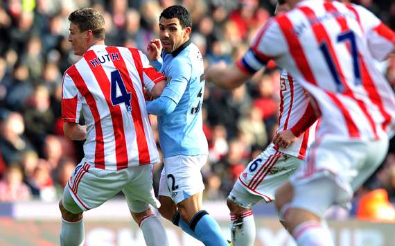 FA Cup - Stoke City vs Manchester City, Carlos Tevez 