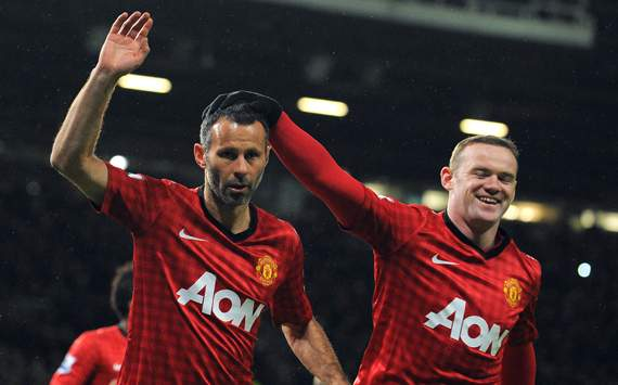 Giggs strike gives him league goal for 23rd consecutive season