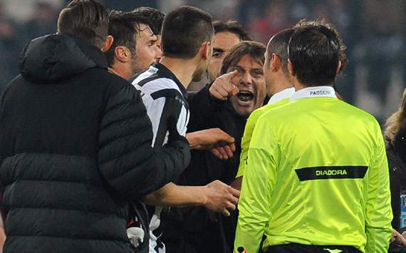 Conte, Bonucci and Chiellini among Juventus staff banned over Genoa protestations