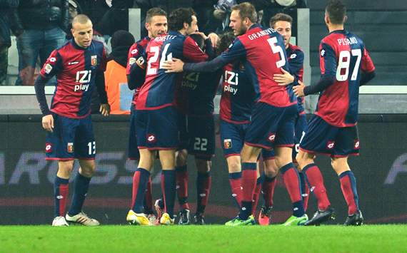 Genoa celebrating vs Juventus