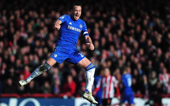 Chelsea captain Terry out of Wigan clash with knee problem