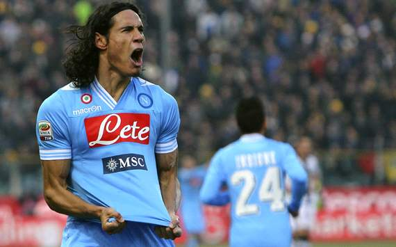 Cavani concentrating on securing Serie A glory with Napoli